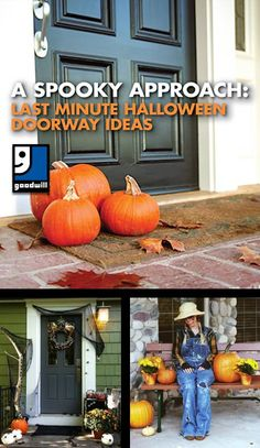 A Spooky Approach: Last Minute Halloween Doorway Ideas - Goodwill Industries International Fall Door Decorations, Diy Halloween Decorations, Halloween Diy, Halloween Doorway, Goodwill Finds, Easter Baskets, Playing Dress Up, Christmas Stockings, Fairy Village