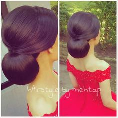 Bildergebnis für hairstyle by mehtap Sleek Hairstyles, Bride Hairstyles, Pretty Hairstyles, Long Hair Wedding Styles, Elegant Wedding Hair, Bridal Hair And Makeup, Hair Makeup, Hair Upstyles, Bridesmaid Hair