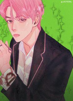 Sehun, Exo, Chibi, Anime Art, Fan Art, Character, Husband, Lettering, Art Of Animation