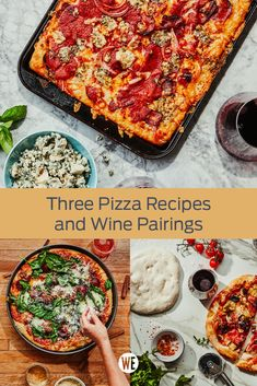 There's no better way to spend an evening than with everyone's favorite comfort food, pizza. Combine your two favorite food groups with this guide. Pizza Recipes, Wine Recipes, Group Meals, Food Groups, Food Mills, Deep Dish, Dry Yeast, Cooking Time