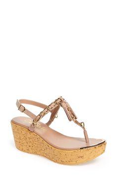Callisto 'Tamtam' T-Strap Platform Wedge Sandal (Women)