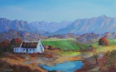 Louis Pretorius, Homestead on ArtStack South African Artists, Homesteading, Stretched Canvas, The Originals, Artwork, Landscapes, Stuff To Buy, Painting, Paisajes