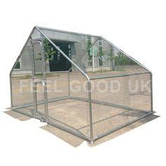 FeelGoodUK Cage en Acier galvanisé 6 x 3 x 2 m CAGE 01