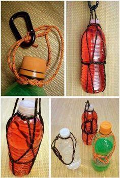 para-cord water bottle holder