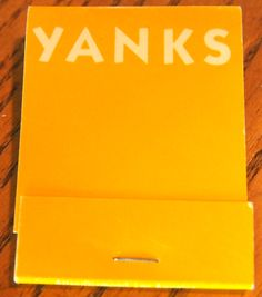 Yanks - Beverly Hills #matchbook To order your business' own branded #matchbooks go to www.GetMatches.com or call 800.605.7331 today!