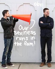 Cousins Stephen Amell and Robbie Amell melt our faces off with their sexiness! Check out our EXCLUSIVE photos HERE!!