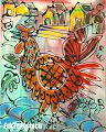 Hanen Rooster, Animals, Painting, Art, Art Background, Animales, Animaux, Painting Art, Kunst