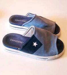 0fc3862cd421 Converse All Star Light Blue Suede Flip Flop Open Toe Slippers Shoes Size 5  UK