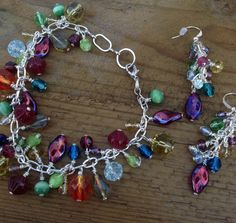 Multi coloured beaded bracelet and cascading by StuffByStace, $18.00