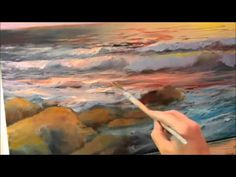 Painting The surf at sunrise Part 2 - YouTube