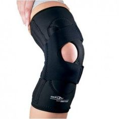 DONJOY LATERAL J PATELLA KNEE BRACE - Designed to provide stabilization to patella, ideal for treatment of patellar dislocation, lateral patellofemoral malalignment, patellofemoral maltracking and pain, and chondromalacia.