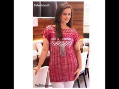 Blusa pink em crochê de grampo - Helen Mareth 9587f3a177b