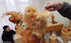 Sergei Bobkov wood chip sculpture