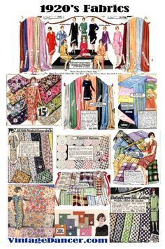 1920s fabric swatches from vintagedancer com