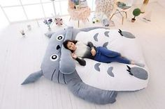 Msize DOUBLE Totoro Cartoon Bed Mattress, Large Bean Bag Sofa Lounge high qualit | eBay