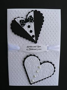 wedding hearts invitation... cute.