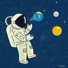 Teknoloji ve Uzayın Hayatımızdaki Yerini Sorgulatan 20+ İlginç İllüstrasyon Sanatlı Bi Blog 5