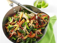 Lend a bit of colour to your plate, and a spring to your step, with this healthy and delicious recipe for tamari, lime and sesame vegetables.