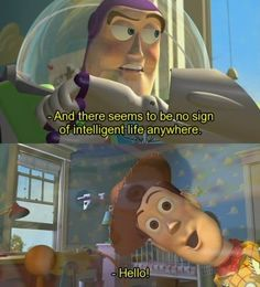 Toy story is amongst my favorite Disney movies, and this part is very funny! Disney And Dreamworks, Disney Pixar, Walt Disney, Disney Characters, Disney Movie Quotes, Disney Memes, Funny Disney, Disney Sayings, 3 Gif