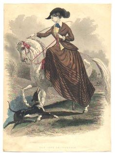 Riding Habit Fashion Plate c1847
