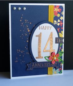 Stampin Along With Heidi: PCCCS204 - HAppy 14th Anniversary