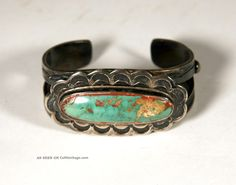 Early, Heavy Navajoturquoise Old Pawn Bracelet. Fabulous Stone, 84 Grams. 1930  |  http://cultheritage.com/unt/42118-early__heavy_navajoturquoise_old_pawn_bracelet___fabulous_stone__84_grams___1930.html
