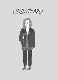 UNDATEABLE Frances Ha print by heartbeatsclub on Etsy