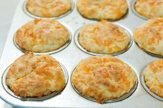 Pioneer Woman Cheese Muffins These are so easy to make and they're light and fluffy! Yum!