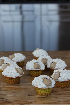 my sheep cupcakes