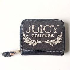 Black Juicy Couture wallet Black terry cloth and leather wallet. Only used for a couple weeks. I accept offers and bundles. Juicy Couture Bags Wallets