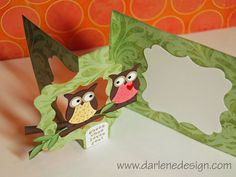 Cutest idea! Owl Punch Flip-it Card by darlenedesign - Cards and Paper Crafts at Splitcoaststampers