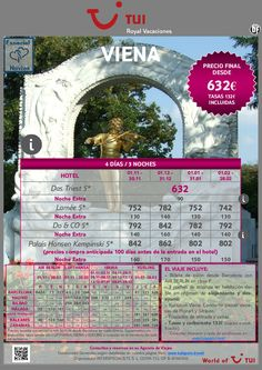 ¡Especial novios! Estancia en VIENA 4 días / 3 noches. Precio final desde 632€ - http://zocotours.com/especial-novios-estancia-en-viena-4-dias-3-noches-precio-final-desde-632e/