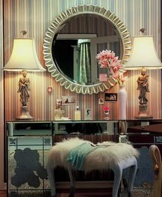 Made in heaven // dressing table; could not find the exact source but photo is by Grey Crawford