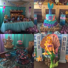 Lauren's First Birthday Undersea Mermaid Theme   CatchMyParty.com
