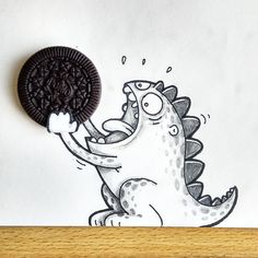Drogo Loves Oreo. But It's Too Big For Him. By Manik & Ratan, twin brothers based in Dhaka, Bangladesh. They are cartoonist, animators and designers.
