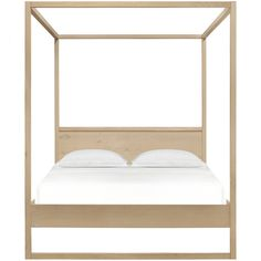 4 Poster Spati Bed – Natural