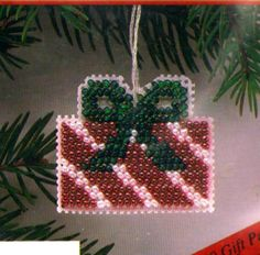 "VINTAGE 1991 MILL HILL HOLIDAY ORNAMENT ""GIFT PACKAGE"" COUNTED CROSS STITCH KIT #MillHill #Ornament Gingerbread Ornaments, Christmas Gingerbread, Holiday Ornaments, Holiday Decor, Beaded Cross Stitch, Counted Cross Stitch Kits, Ornament Crafts, Gift Packaging, Gifts"