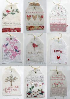 hand sewn tea bag bookmark tea party favors
