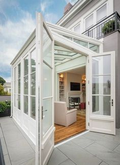 Sun room extension design idea