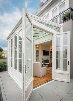 Sun room extension design idea