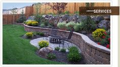 Retaining wall and firepit