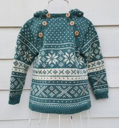 Snøhetta anorak and sweater von SiSiVeAS auf Etsy Knitting For Kids, Knitting Projects, Baby Knitting, Crochet Baby, Knitting Charts, Knitting Patterns, Baby Fair, Norwegian Knitting, Fair Isle Pattern