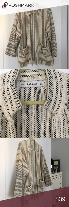 Zara - Coat / Outerwear Brand new, never worn, great coverup coat / jacket - kind of a beach rustic maritime style. Looks great with a white tee and jeans! Zara Jackets & Coats
