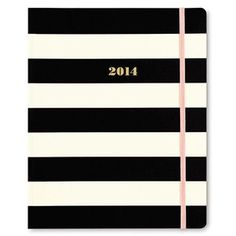 2014 kate spade new york 17-month agenda Black Stripe Pattern ...