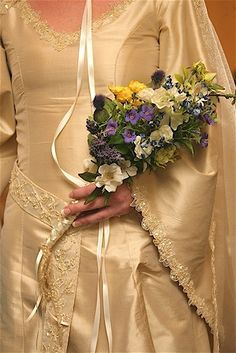 Fairy Maiden Medieval Silk Custom Gown with by RomanticThreads, $895.00