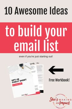 Are you actively building an email list? If not, it's time to start! You don't own Facebook or Instagram. What if one day your account was shut down? How will you reach your audience? You need an email list! In this post I'll share my top strategies that have built my list to over 20,000 subscribers! Repin and grab my free opt-in cheat sheet to help you get started! Blogging tips, blogging for beginners, how to make money online, online marketing tips, social media strategy