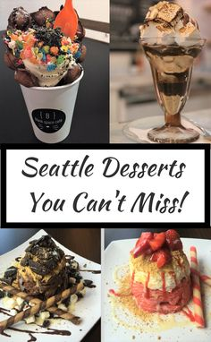 3 amazing desserts you have to try in Seattle, WA
