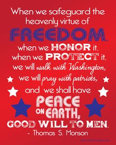 Free 4th of July printables. Freedom=peace on earth.