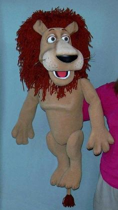 Lion , puppet doll