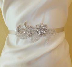 Wedding Belt LAURI Bridal Belt Crystal Belt by BellaCescaBoutique, $45.00